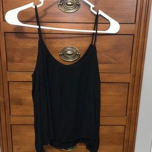 Black off shoulder tank top